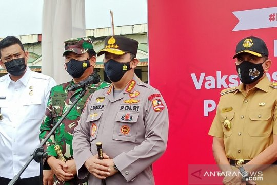 Kapolri-Panglima TNI kunjungan kerja bersama tinjau vaksinasi di Natuna