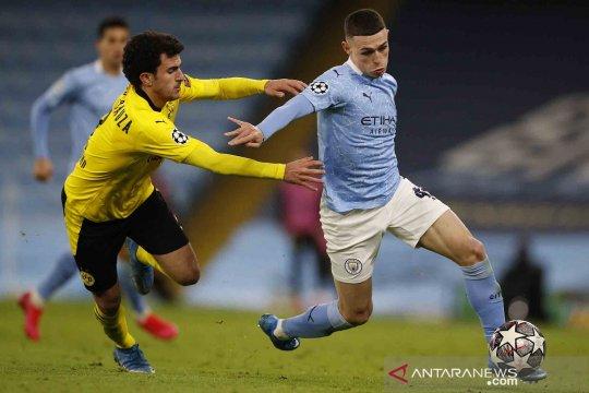 City menangi leg pertama kontra Dortmund 2-1