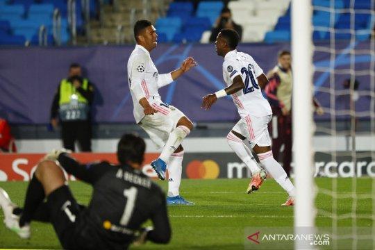 Dua gol Vinicius Junior bawa Real Madrid bekuk Liverpool 3-1