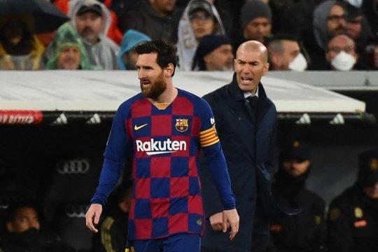 Zinedine Zidane ingin selalu ada Messi dalam laga El Clasico