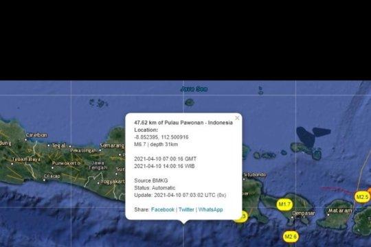 BMKG: Gempa bumi 6,7 SR guncang Kabupaten Malang