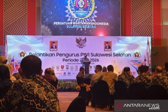 Pengurus PWI Sulsel periode 2021-2026 resmi dilantik