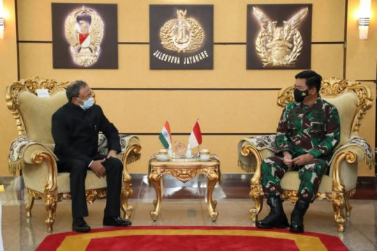Panglima TNI sambut baik usul India tingkatkan kerja sama latihan gabungan