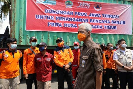 Jateng kirim sukarelawan dan bantuan logistik untuk korban banjir NTT