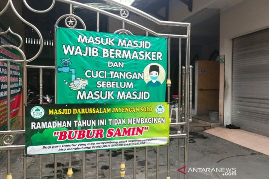Masjid Darussalam Solo kembali meniadakan pembagian bubur Samin