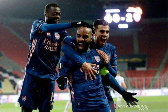 Arsenal menang telak 4-0 di markas Slavia demi kunci tiket semifinal