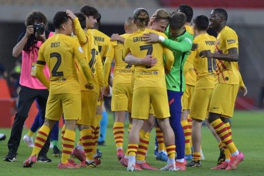 Barcelona juarai Piala Raja, Messi sumbang dua gol