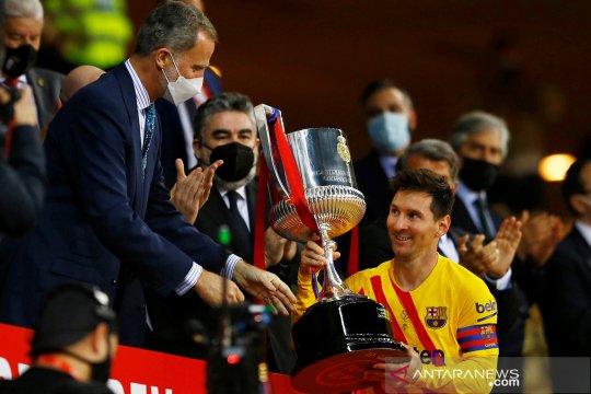 Lionel Messi antar Barcelona juarai Copa del Rey