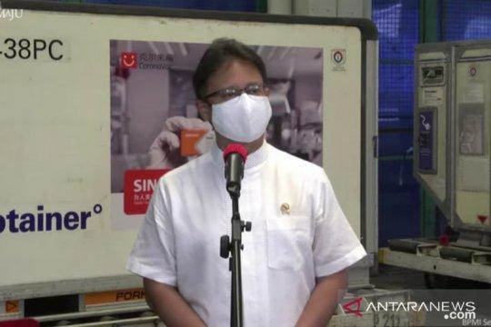 "6 juta ""bulk"" vaksin Sinovac tiba di Indonesia"