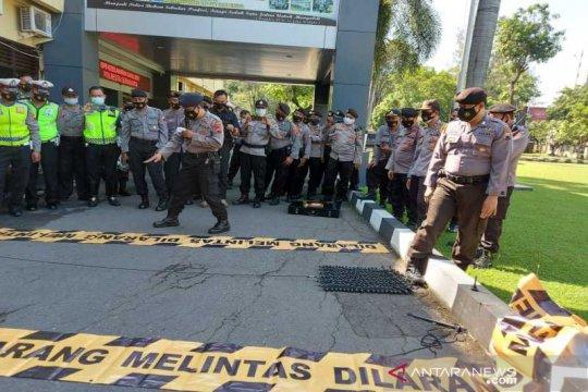 """Hambat penjahat melarikan diri, Polresta Surakarta gelar latihan """"Road Blocker"""""""