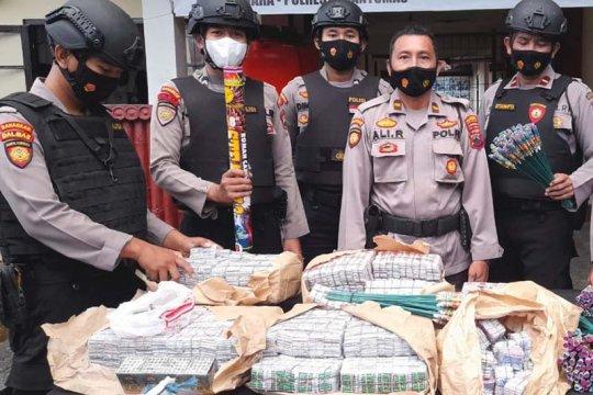 Ribuan butir petasan hasil Operasi Pekat di Banyumas disita polisi