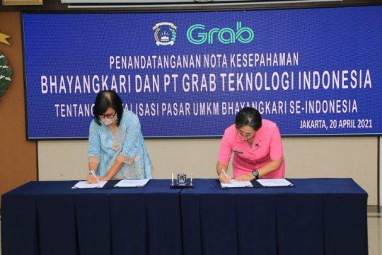 Peringati Hari Kartini, Bhayangkari-Grab MoU digitalisasi UMKM se-Indonesia