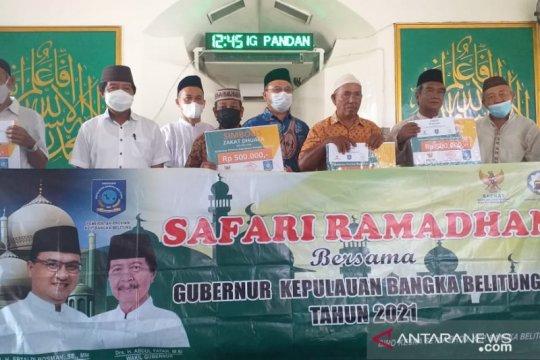 Pemprov Babel salurkan hasil zakat ASN di Belitung