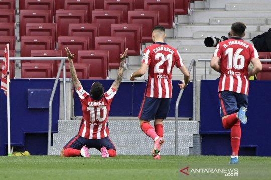 Atletico Madrid kembali mendepak  Real Madrid dari puncak klasemen