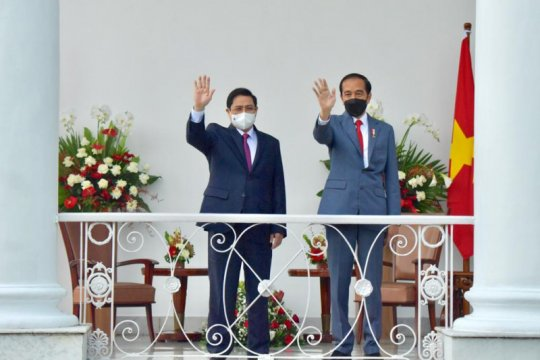 Presiden Jokowi bahas empat isu saat bertemu PM Vietnam