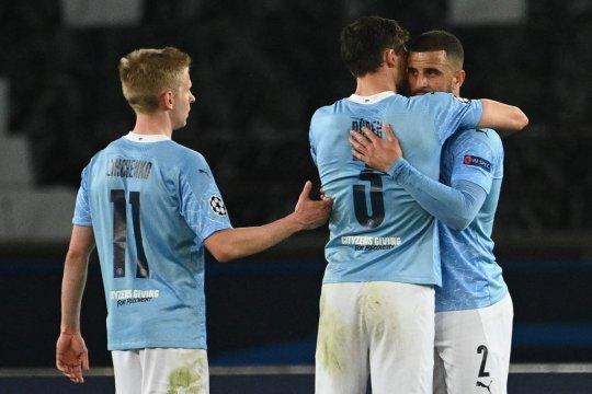 Manchester City selangkah ke final setelah taklukkan 10 pemain PSG