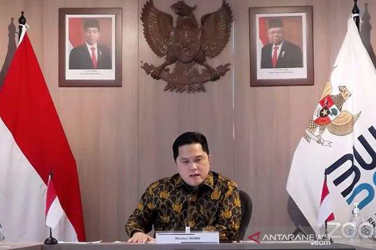 Menteri Erick Thohir pastikan tujuh BUMN dibubarkan pada 2021
