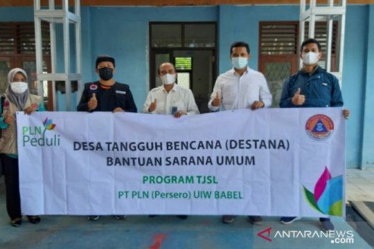 PLN UP3 Bangka salurkan bantuan kepada Destana