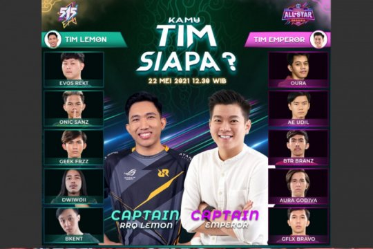 Mobile Legends All Star Tournament umumkan pemain