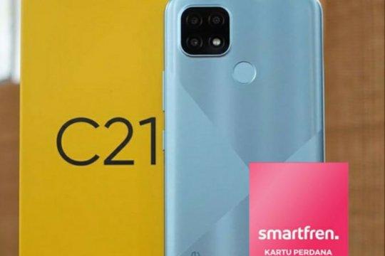 Pakai Smartfren di Realme C21 dapatkan bonus kuota 384GB hingga smart TV