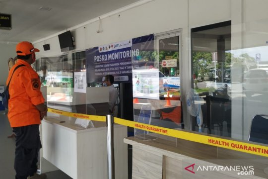 Hari pertama larangan mudik, bandara H. AS Hanandjoeddin Belitung sepi