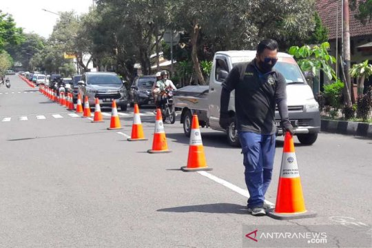 Dishub rekayasa lalu lintas antisipasi kepadatan depan Pasar Temanggung