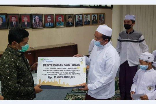 Ramadan, BPJAMSOSTEK Semarang Pemuda berbagi ke anak-anak panti asuhan