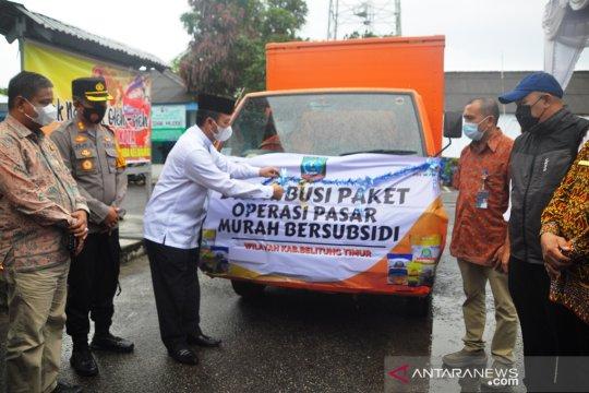 Pemkab Belitung Timur salurkan 8.605 paket sembako bersubsidi