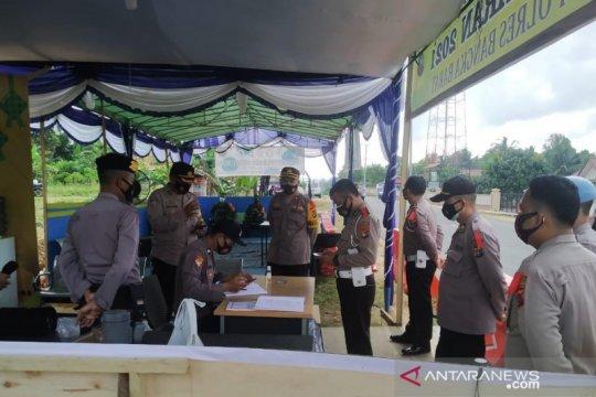 Polres Bangka Barat perketat pemeriksaan di posko cegah pemudik