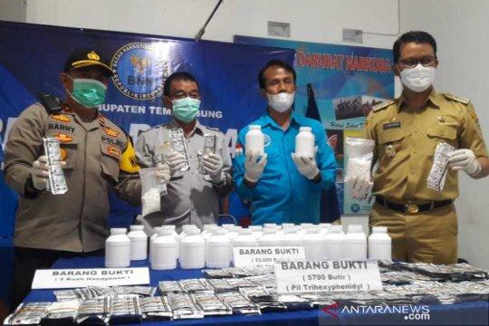 Edarkan 42.790 butir obat terlarang, dua warga Temanggung dibekuk BNNK