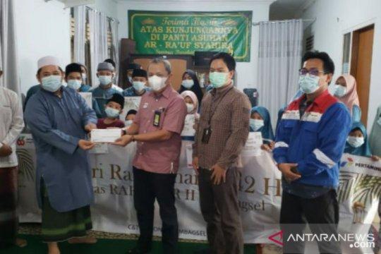 Berbagi kebahagiaan, Pertamina santuni 653 anak yatim di 5 Provinsi Sumbagsel