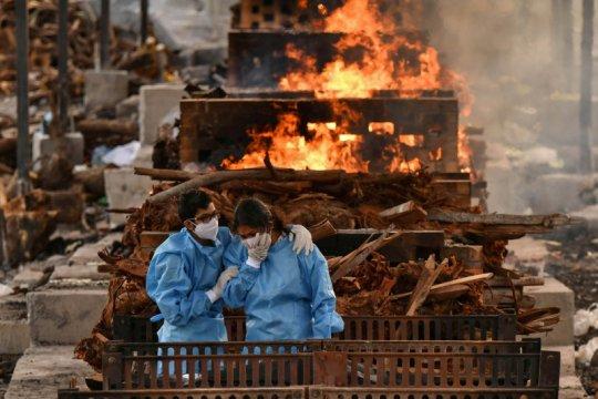Kematian harian akibat COVID-19  di India mendekati 4.000 jiwa