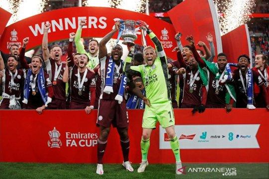 Leicester akhirnya pecah telur juara piala FA