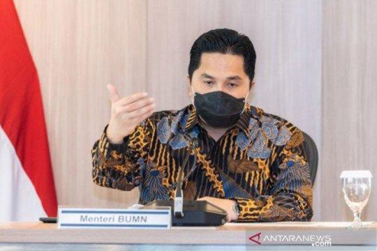 Erick Thohir mengusulkan anggaran kementerian BUMN 2022 Rp208 miliar