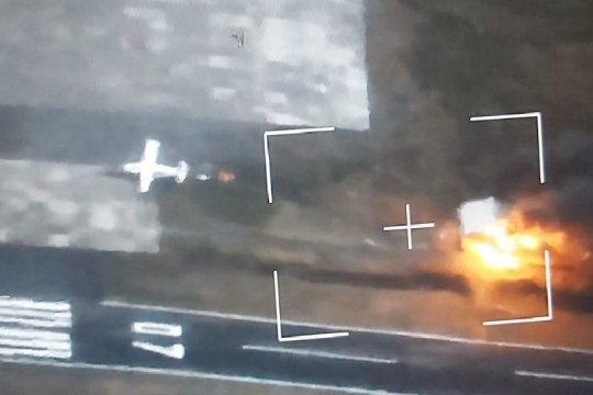 KKB membakar tower di Bandar Udara Aminggaru Ilaga