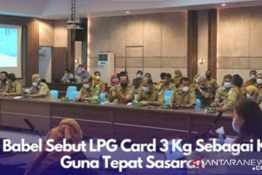 Sekda Babel: LPG Card 3 Kg sebagai kendali guna tepat sasaran