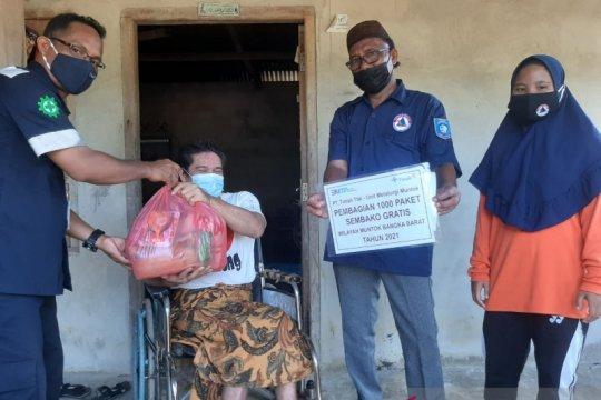 PT Timah salurkan 1.000 paket sembako untuk warga Bangka Barat