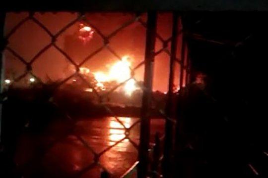 Kebakaran pada Tangki T39 berhasil dipadamkan