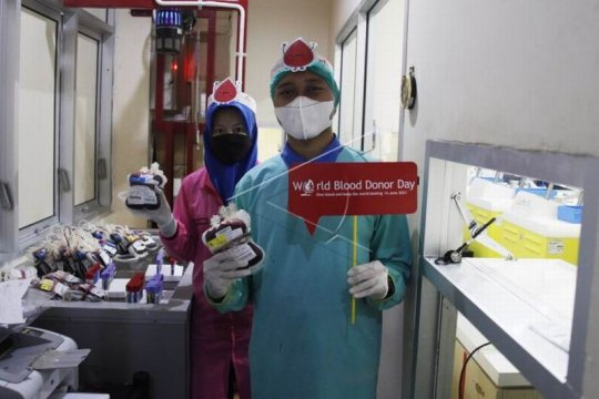 Memperingati hari donor darah