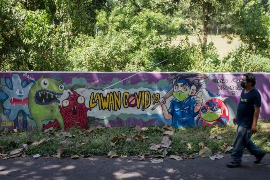 Mural lawan COVID-19