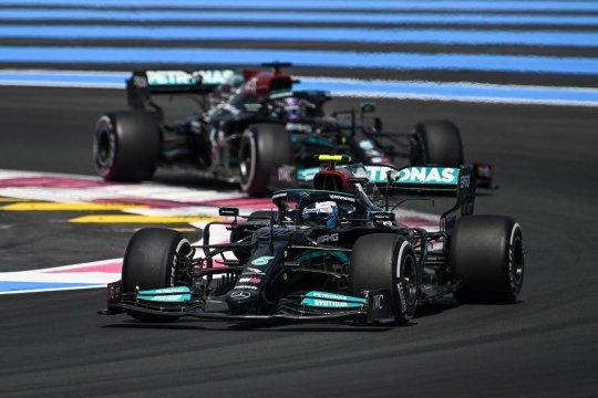 Duo Mercedes dominasi sesi latihan bebas di Grand Prix Prancis
