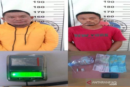 Polres Bangka Selatan tangkap dua pelaku narkotika di Desa Sadai