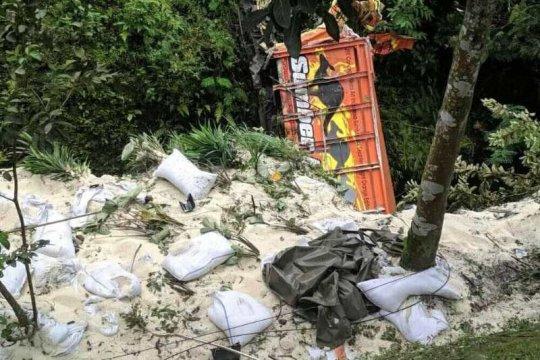 Kecelakaan maut di turunan Kertek Wonosobo, 3 tewas dan 7 luka