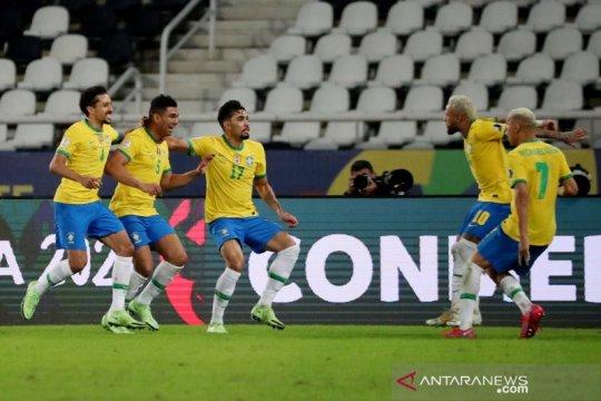Brazil tundukkan Kolombia 2-1