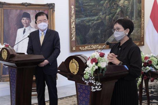 Menlu RI-Korea Selatan tegaskan pentingnya peningkatan kerja sama kesehatan