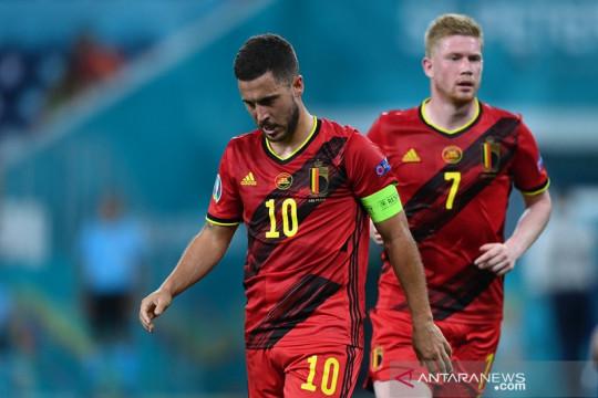 Hazard dan De Bruyne masih diragukan bisa tampil lawan Italia