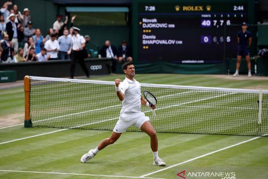 Taklukkan Shapovalov, Djokovic bertemu Berrettini di final Wimbledon 2021