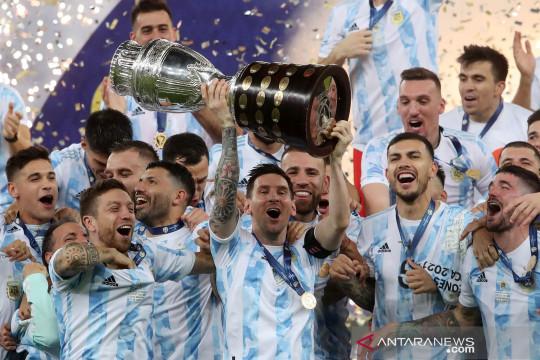Lionel Messi dedikasikan Copa Amerika untuk keluarga, negara dan Maradona