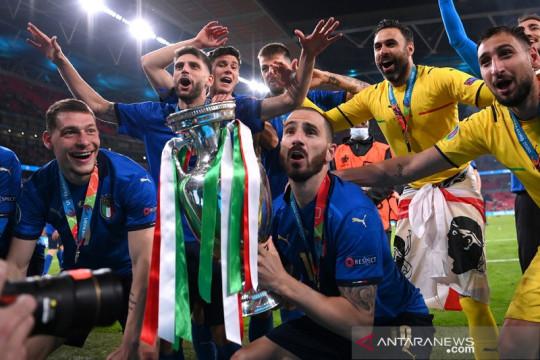 Timnas Italia dan Inggris mendominasi 11 terbaik Euro 2020