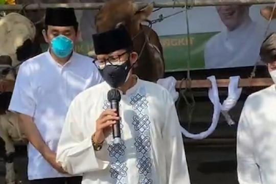 Menteri Sandiaga Uno ajak masyarakat bangkit dari pandemi di momen Idul Adha